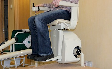 Stairlift kindly donated and maintained by Advanced Stairlifts and Mobility Solutions